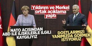 Yıldırım ve Merkel ortak açıklama yaptı