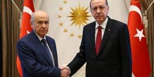 Beştepe'de Erdoğan-Bahçeli görüşmesi sona erdi