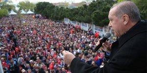 Erdoğan: Kurla tehdit etmeye kalkmayın, yaşam hakkı bulamazsınız