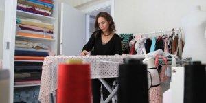 Kızı için tasarladığı elbiselerle atölye kurdu