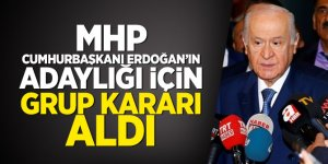MHP, Cumhurbaşkanı Erdoğan'ın adaylığı için grup kararı aldı