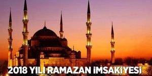 2018 yılı Ramazan imsakiyesi