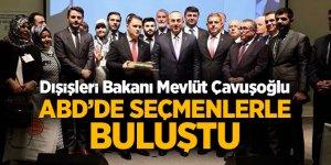Dışişleri Bakanı Mevlüt Çavuşoğlu ABD'de seçmenlerle buluştu
