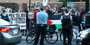 İsrail saldırıları  Washington'da protesto edildi