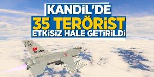 Kandil'de 35 terörist etkisiz hale getirildi