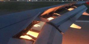 S.Arabistan Milli Takımı'nı taşıyan uçak alev adlı