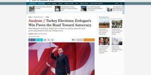 Erdoğan'ın seçim başarısını hazmedemedi