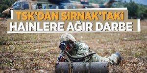 TSK'dan Şırnak'taki hainlere ağır darbe!
