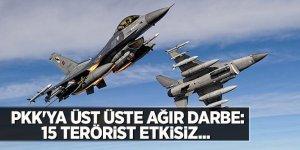 PKK'ya üst üste ağır darbe: 15 terörist etkisiz...