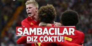 Sambacılar diz çöktü! 2. Yarı finalist Belçika oldu