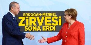 Erdoğan-Merkel zirvesi sona erdi