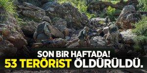 Son bir haftada! 53 terörist öldürüldü.