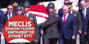 """Meclis Başkanı Yıldırım """"Anıtkabir""""de ziyaret etti"""