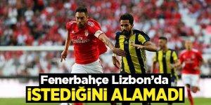 Fenerbahçe deplasmanda Benfica'ya 1-0 yenildi