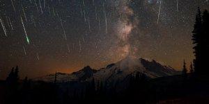 Gökyüzünde meteor şöleni