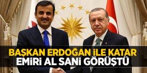 Başkan Erdoğan ile Katar Emiri Al Sani görüştü