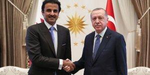 Cumhurbaşkanı Erdoğan Katar Emiri Al Sani ile görüşüyor