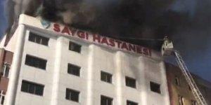 İstanbul Sultanbeyli'de özel bir hastanede yangın çıktı!