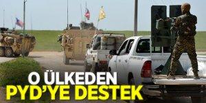 O ülkeden PYD'ye destek