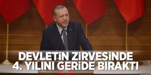 Başkan Erdoğan devletin zirvesindeki 4. yılını geride bıraktı!