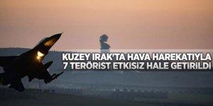 Zap ve Avaşin-Basyan bölgelerine hava harekatlarında 7 terörist etkisiz hale getirildi!