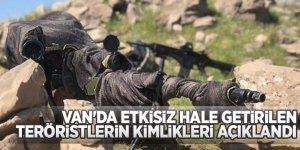 Van-Gürpınar'da etkisiz hale getirilen teröristlerin kimlikleri açıklandı!