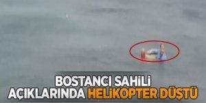 Son dakika... Bostancı sahili açıklarında helikopter düştü!