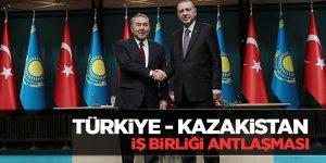 Türkiye - Kazakistan  iş birliği antlaşması
