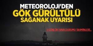 Meteoroloji'den İstanbullulara yağış uyarısı! 5 günlük hava durumu tahminleri...