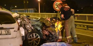 İzmir'de korkutucu kaza! 1 kişi öldü, 4 kişi yaralandı