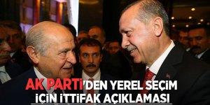 AK Parti'den Yerel Seçim İçin İttifak Açıklaması