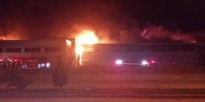 Gıda fabrikasında feci yangın...