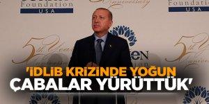 Başkan Erdoğan: 'İDLİB krizinde yoğun çabalar yürüttük'