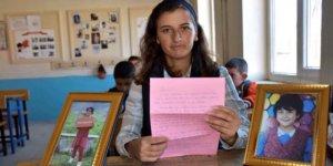 Sedanur'un öğretmeninden duygulu mektup