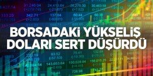Borsa 100.000 puanı aştı, doları sert düşürdü