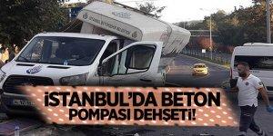 Flaş Haber...İstanbul'da beton pompası dehşeti!