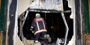 Ankara'da bir restoranda yangın çıktı!