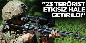 """İçişleri Bakanlığı: """"23 teröristin etkisiz hale getirildi"""""""