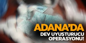 Adana uyuşturucu operasyonu!965 bin hap...