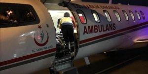 Ambulans uçak 7 aylık Emir için uçtu!