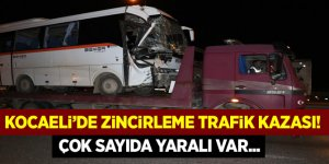 Kocaeli'de zincirleme trafik kazası! Çok sayıda yaralı var...