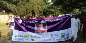 Nijerya'da Cemal Kaşıkçı için adalet yürüyüşü