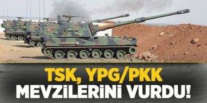TSK, terör örgütü YPG/PKK'nın mevzilerini bombaladı