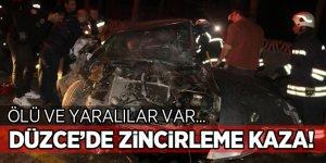 Düzce'de zincirleme trafik kazası: 1 ölü, 2 yaralı