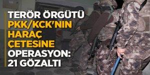 Terör örgütü PKK/KCK'nın haraç çetesine operasyon: 21 gözaltı