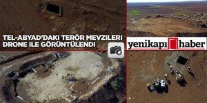 Tel-Abyad'daki terör mevzileri drone ile görüntülendi