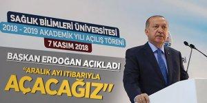 """Başkan Erdoğan : Aralık ayı itibarıyla açacağız"""""""