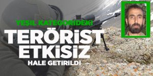 Yeşil listede aranan terörist etkisiz hale getirildi