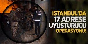 İstanbul'da 17 adrese uyuşturucu operasyonu