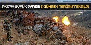 PKK'ya büyük darbe!8 günde 4 terörist eksildi